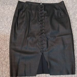 H&M Skirt Faux Leather